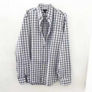 J.Crew Tall Jaspe Cotton Shirt in Gingham